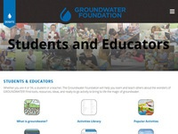 Groundwater Foundation's Students & Educators