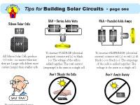 Solar Schoolhouse's Tips for Building Solar Circuits