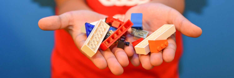 Mentees Holding LEGOs