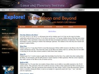 Lunar and Planetary Institute's Explore! To the Moon and Beyond