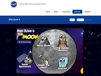NASA's Kids Zone 4: The Moon