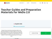 WeDo 2.0 Teacher Guide and Preparation Materials